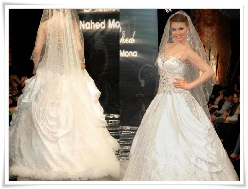 صور فساتين زفاف بقماش اورنجنزا 2014 , فساتين للعرايس رقيقه 2014