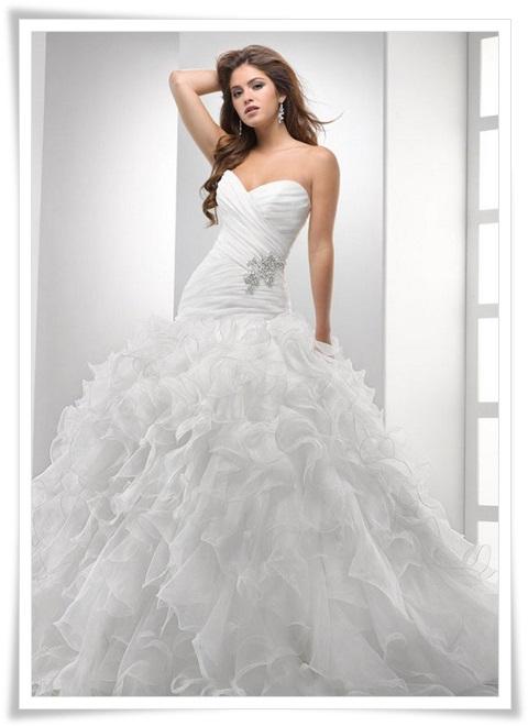 صور فساتين اورجنزا للعرايس 2014 , اجدد تصميمات فساتين الزواج 2014