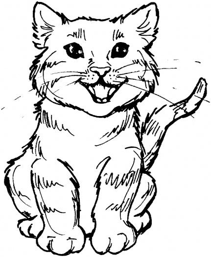 صور رسومات قطط للتلوين 2014 ، صور لوحات قطط مرسومة جاهزة للتلوين والطباعة Cats Coloring 2015
