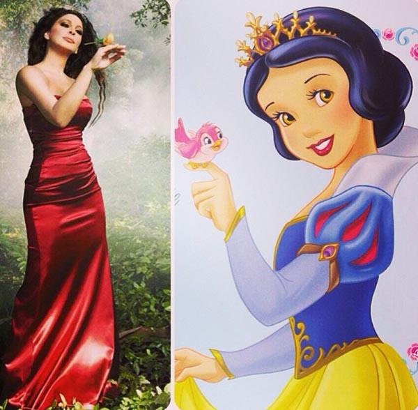 ecfc8ef13 بالصور إليسا تروي قصتها مع أميرات ديزني 2014