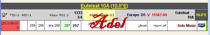 ���� �����  Eutelsat 10A @ 10� East - ���� Solo Music- ������� - ���� ����� (�����)