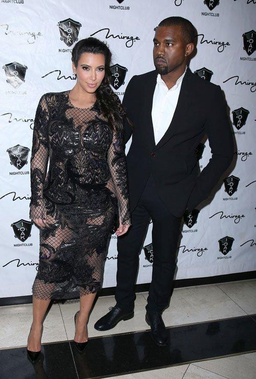 Pregnant Kim Kardashian Sin City NYE with Kanye West