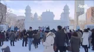 بالفيديو شاهد مهرجان الثلج في اليابان