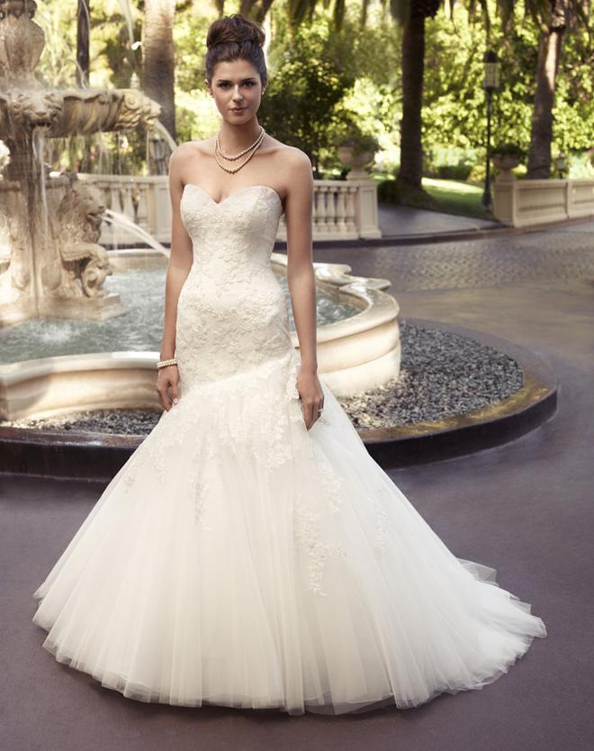 c09358b0c صور فساتين زفاف جديدة وعلى الموضة 2014 ، كولكشن فساتين عرائس رهيبة 2014