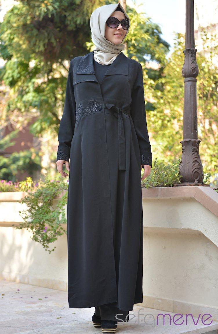bd43199828653 كولكشن عبايات تركية على الموضة 2014 ، صور عبايات تركية للخروجات 2014