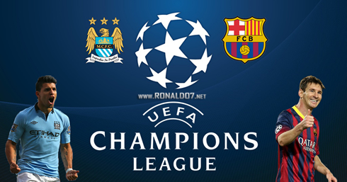 Barcelona vs Manchester City in the Champions League on Tuesday, February 18th, 2014