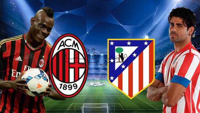 ���� ������ ������ ����� �������� ����� ����� �������� 19-2-2014 ac milan vs atletico madrid