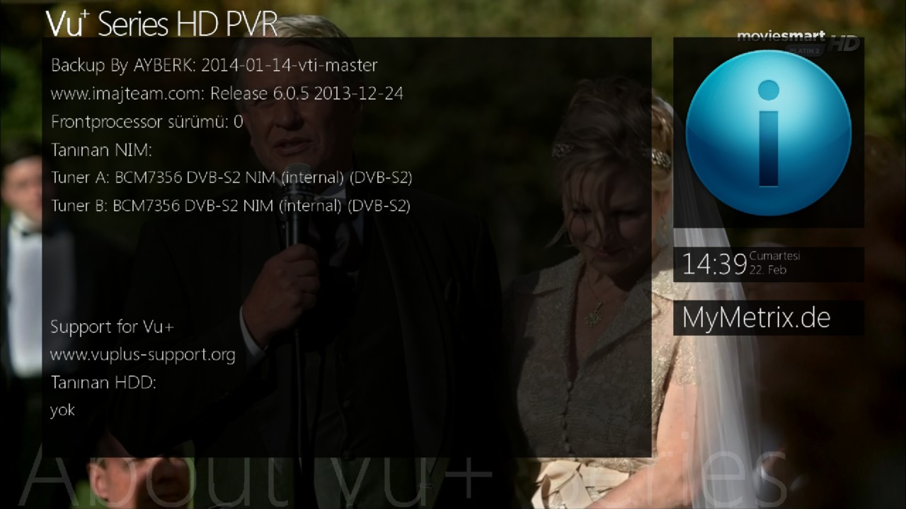 Backup Vu+ Solo2 VTI 6.0.5