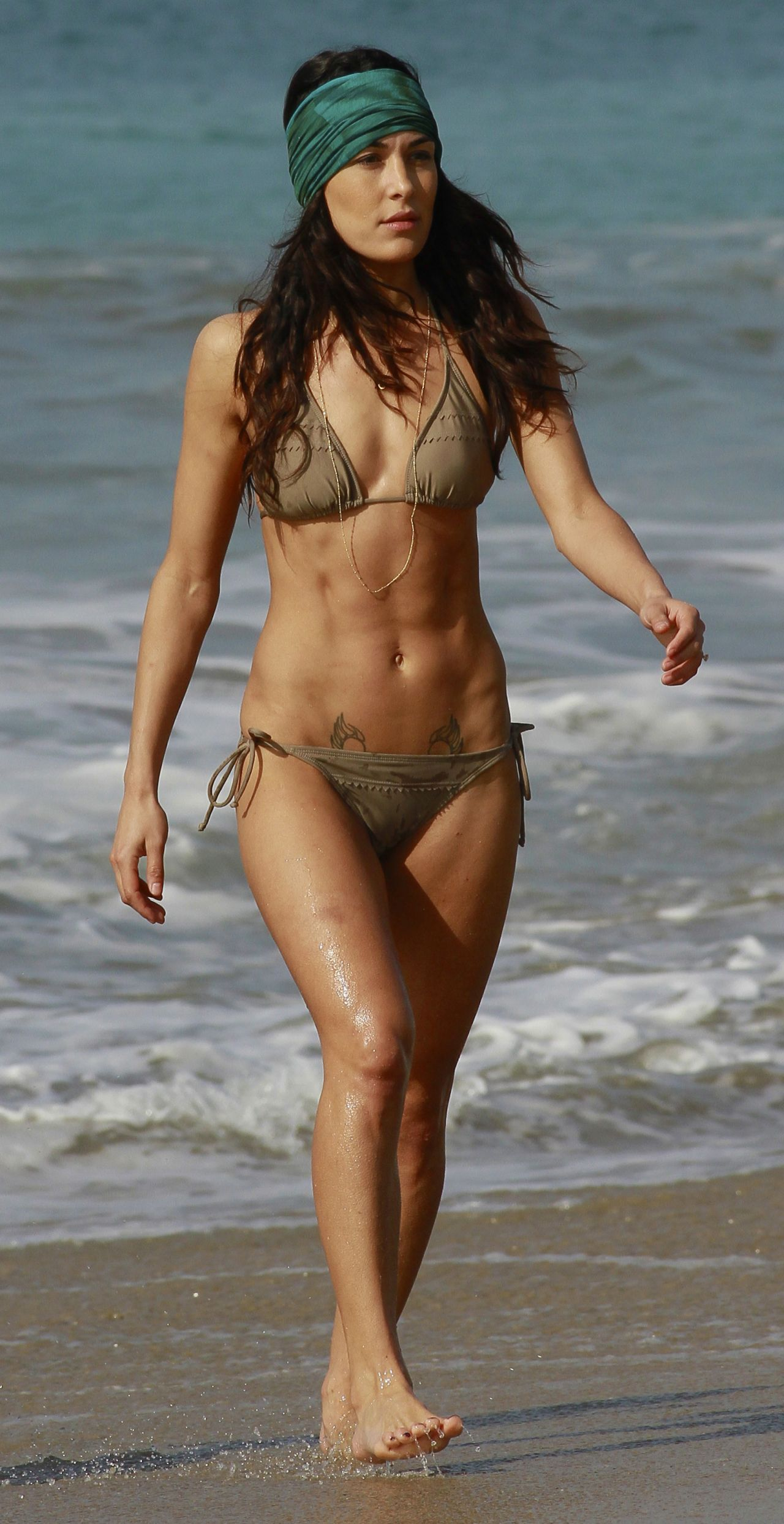 Nikki Rhodes and Felony strip off their bikini to show pussy  136013