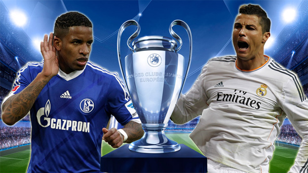 Real Madrid vs Schalke 04 Champions League 26-2-2014
