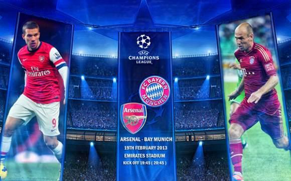 Bayern M�nchen vs Arsenal mardi 11/3/2014