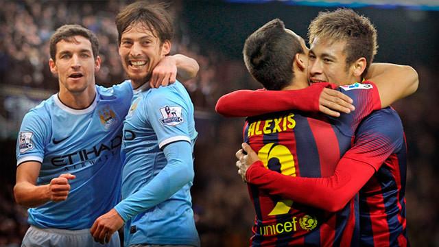 Barcelona vs Manchester City UEFA Champions Wednesday 12/3/2014