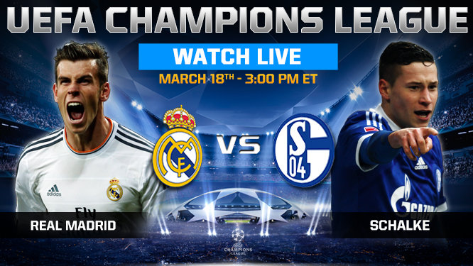 Real Madrid vs Schalke Tuesday 18/3/2014 Champions League , time and channels broadcast