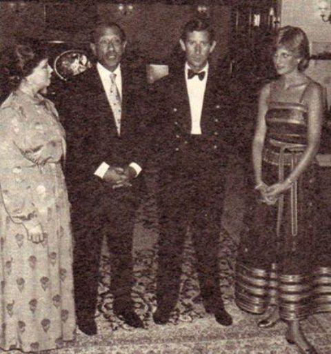 صور نادرة للرئيس السادات مع زوجته والامير تشارلز وديانا