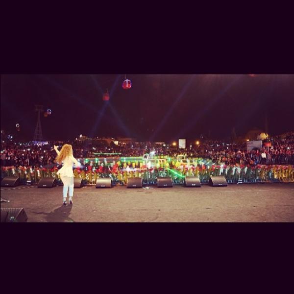 صور ميريام فارس بالزي الكردي 2014 , صور حفلة ميريام فارس في أربيل 2014