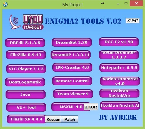 Enigma2 Tools v.02 By AYBERK 23.03.2014