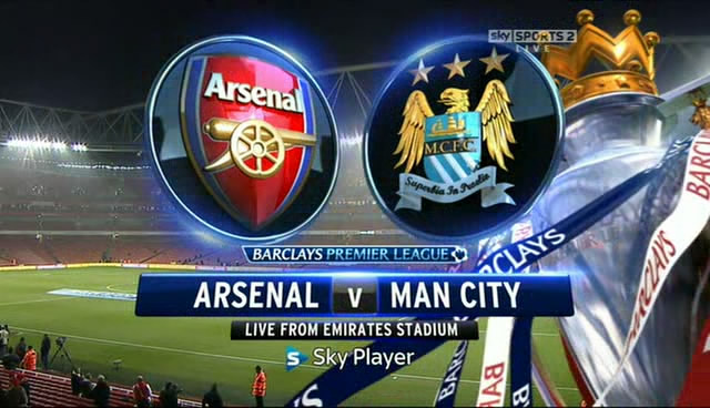Arsenal vs Manchester City 29/3/2014  , time and channels broadcast