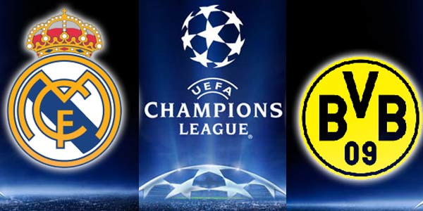 Real Madrid vs Borussia Dortmund Wednesday 2/4/2014 Champions League , time and channels broadcast