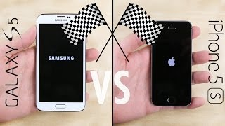 بالفيديو مقارنة بين هاتف ايفون وجالكسي s5 من حيث السرعة