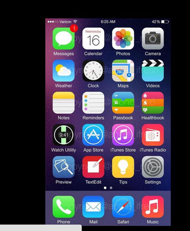 ��� ����� ����� iOS 8 ������ ������� 6