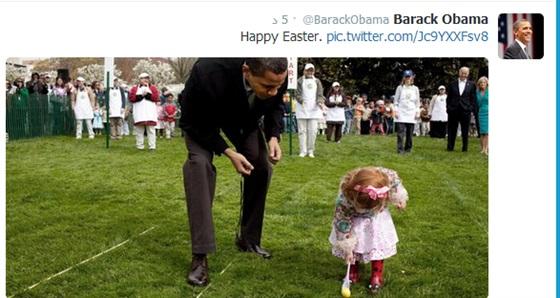 صور باراك أوباما وهو يحتفل بعيد الفصح 2014