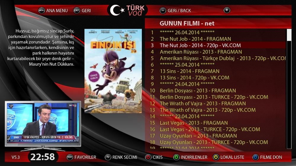 ����� ���� TURKvod V5.3 ����� ����� 27-4-2014