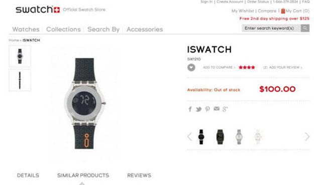 ���� ������� ��������� Swatch ����� ���