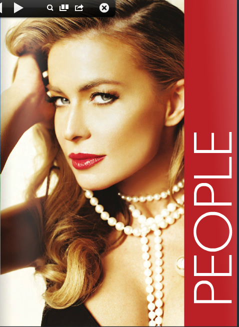 صور كارمن إلكترا على مجلة Prestige International ربيع 2014