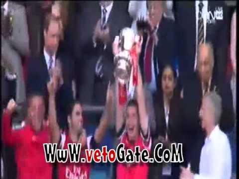 بالفيديو لحظة تتويج ارسنال بكأس الاتحاد الانجليزي 2014