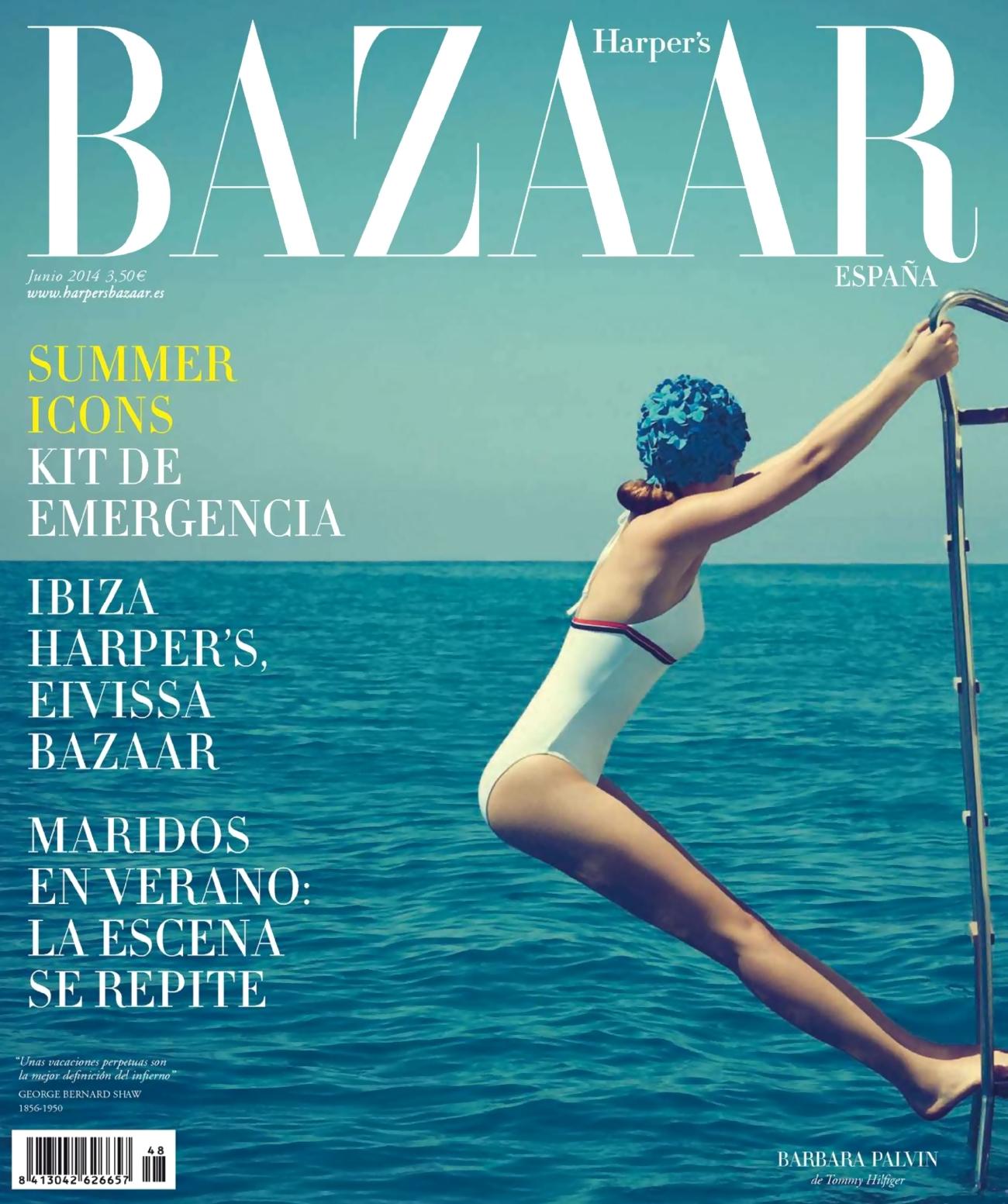 صور بربارا بالفن على مجلة هاربر بازار أسبانيا يونيو 2014