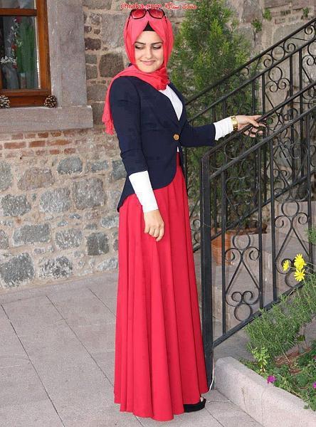 86b3d527d8f9d ملابس محجبات محتشمة كاجوال للجامعة 2014