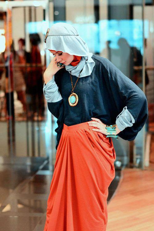 موديلات ملابس المحجبات لصيف 2014 , اشيك ملابس خروج عصرية 2015 , ملابس وازياء محجبات عالموضة 2015