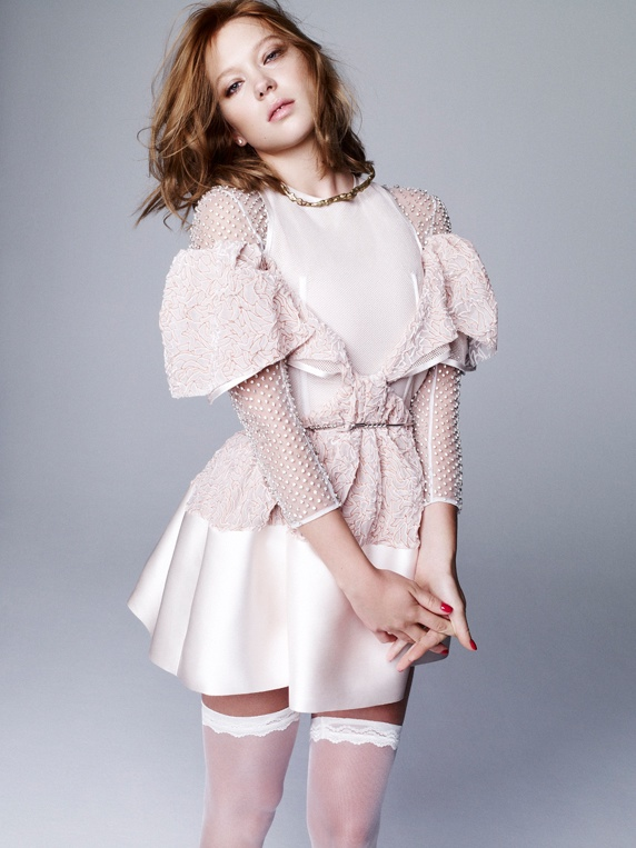 صور ليا سيدو على مجلة Dazed & Confused الكورية مايو 2014