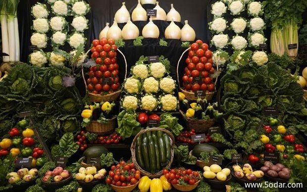 صور معرض هاروجيت للخضروات والفاكهة العملاقة في بريطانيا
