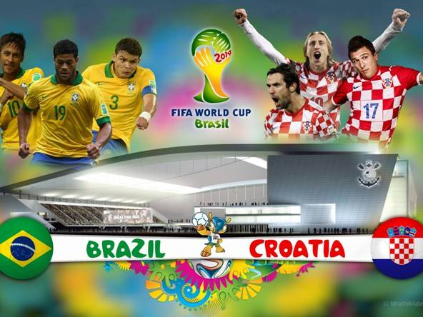 Brazil VS Croatia Thursday 12-6-2014 World Cup , Time and channels broadcast