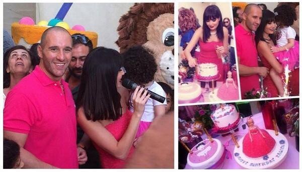 صور سيرين عبدالنور وهي تحتفل بعيد ميلاد ابنتها تاليا 2014 , صور تاليا ابنة سيرين عبدالنور 2014