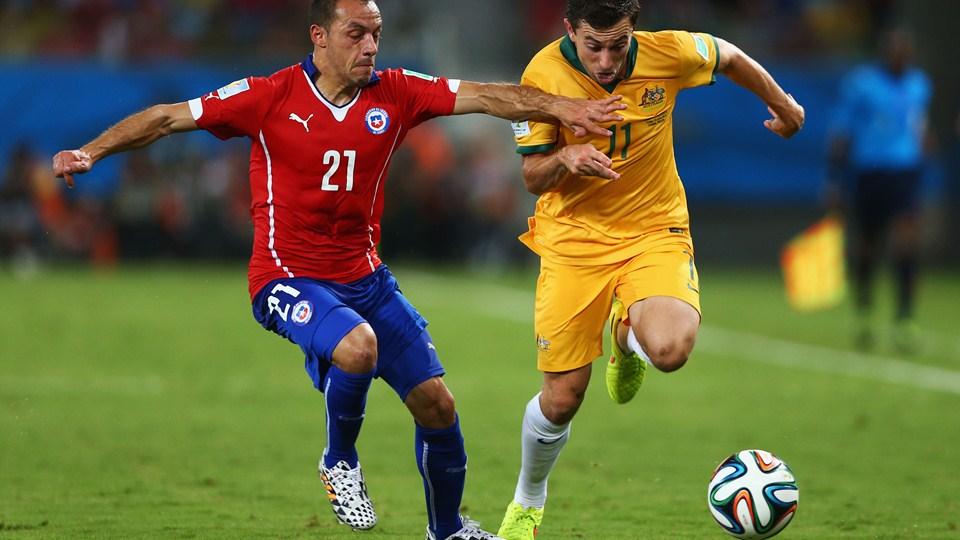 مباراة تشيلي وأستراليا العالم اليوم
