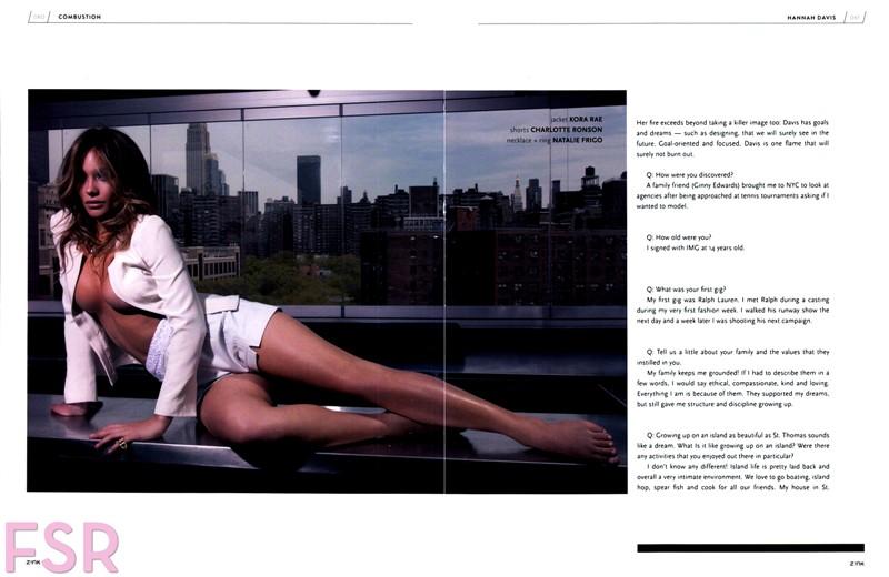 صور هانا ديفيس على مجلة Zink صيف 2014