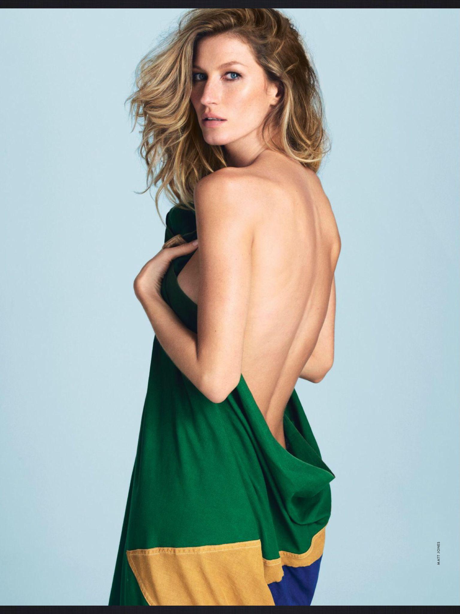 صور جيزيل بوندشين على مجلة elle الفرنسية يونيو 2014
