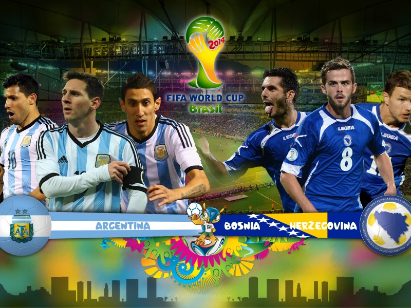 Argentina VS Bosnia Sunday 15-6-2014 World Cup , Time and channels broadcast
