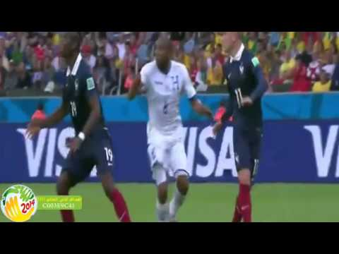 بالفيديو هدف فرنسا الاول , كريم بنزيمة في مباراة الهوندوراس اليوم الاحد 15-6-2014