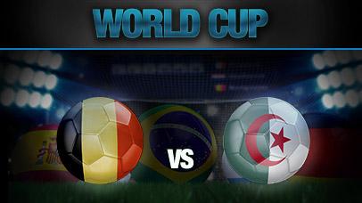 Belgique Vs Alg�rie Coupe du Monde 2014 au Br�sil