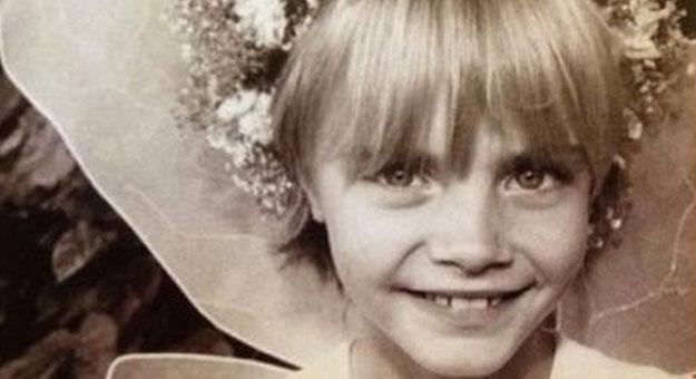 صور كارا دولافينى وهي طفلة صغيرة
