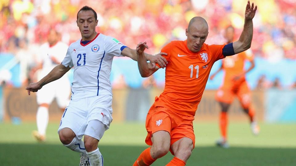 صور مباراة هولندا و تشيلي في كأس العالم الاثنين 23-6-2014
