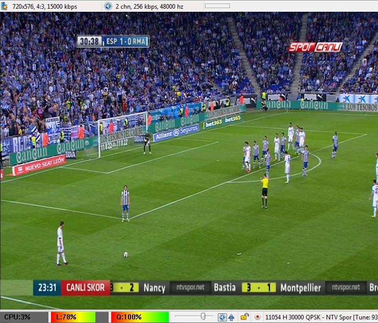 ����� � | ���� NTV Spor ����� ������ ������� (���� �������) ��� ����� T�rksat 2A/3A/4A @ 42� East