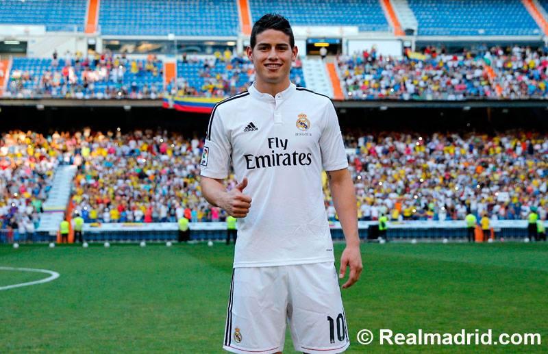 صور حفل تقديم جيمس رودريجيز في ريال مدريد 2014 ، صور جيمس رودريجيز بقميص ريال مدريد 2015
