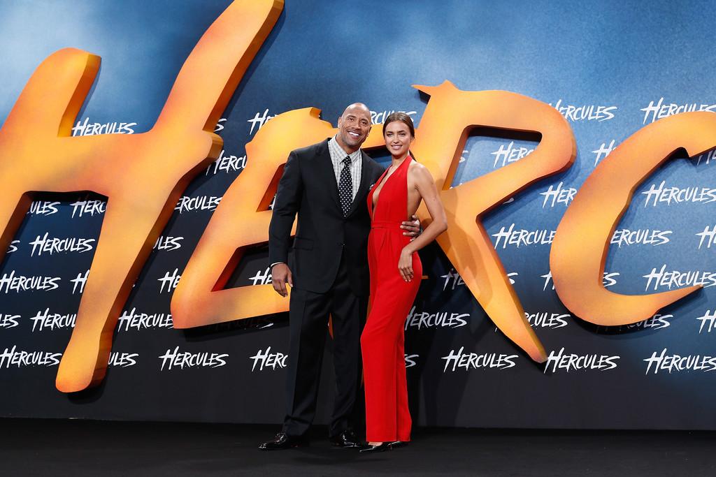 صور إيرينا شايك في حفل عرض فيلم Hercules في برلين
