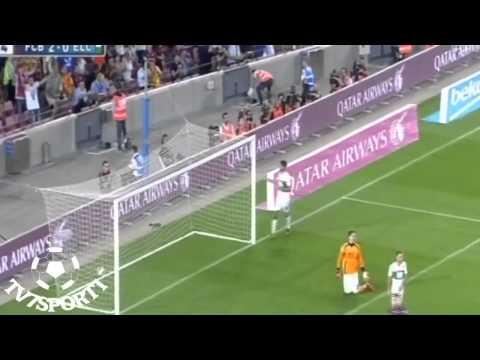 يوتيوب اهداف مباراة برشلونة وإلتشي اليوم الاحد 24-8-2014