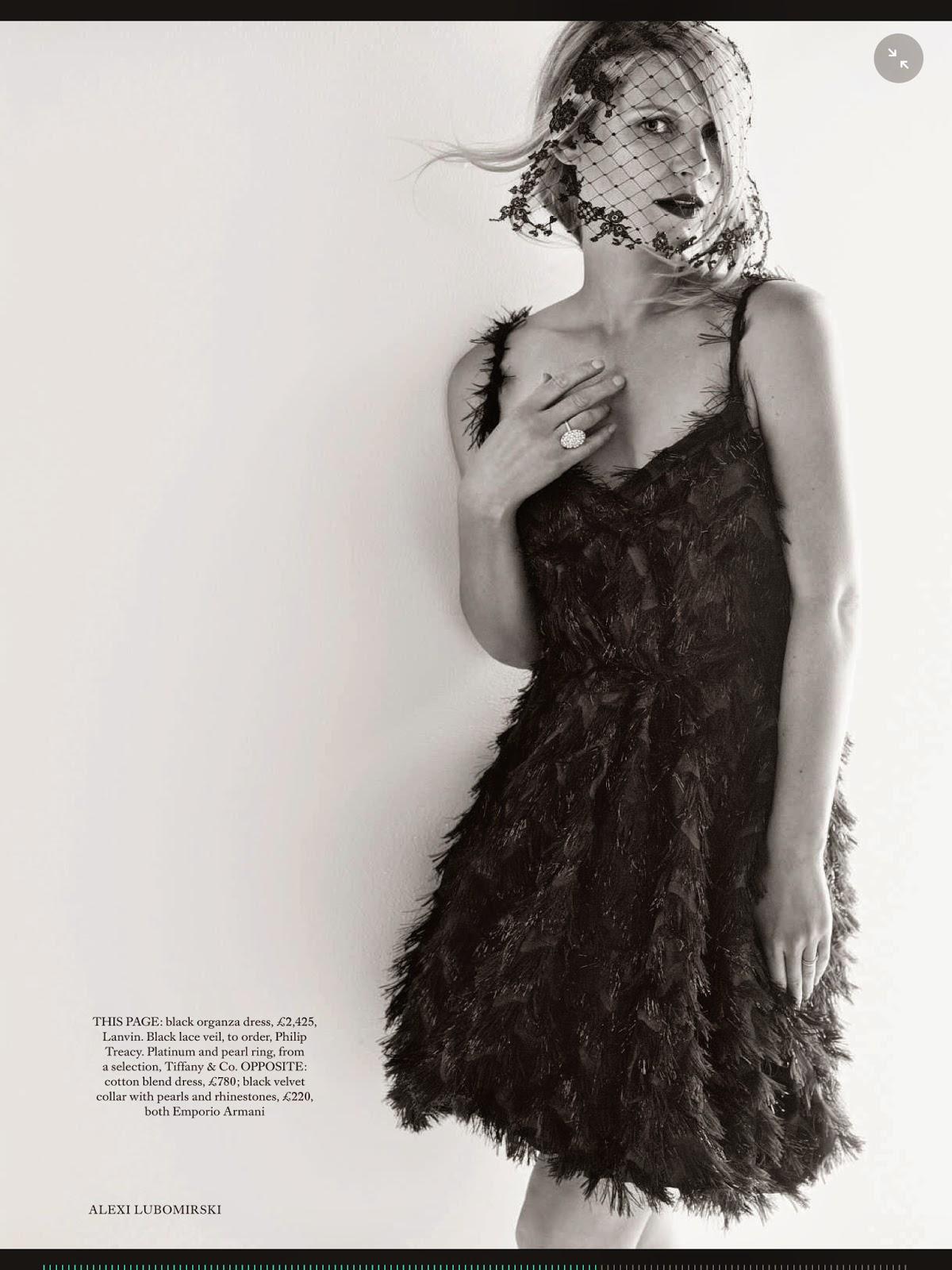 صور كلير دينس على غلاف مجلة هاربر بازار بريطانيا أكتوبر 2014