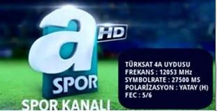 ���� A Spor ���� ������� Eutelsat 7A/7B @ 7� East / T�rksat 4A @ 42� East